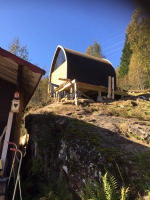 Utendørs trebastu for hage igloo design, Åge, Haugesund, Norway (1)