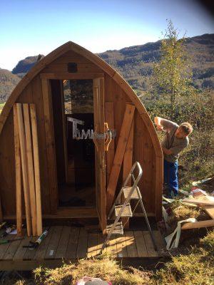 Utendørs trebastu for hage igloo design, Åge, Haugesund, Norway (3)