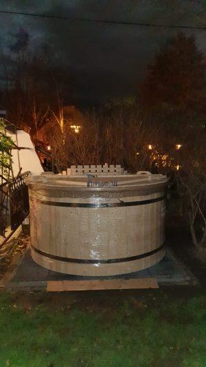 Utendørs hage jacuzzi badestamp spesialtilbud (23)