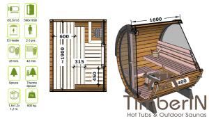 Lille utendørs fatbadstuen for 2 4 personer (1)