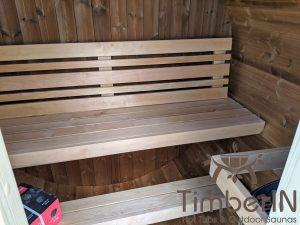 Lille utendørs fatbadstuen for 2 4 personer (10)